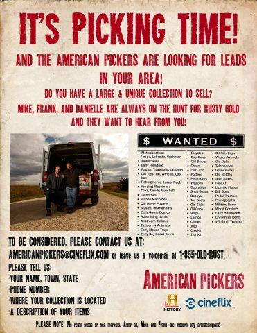 American Pickers Flier 2016